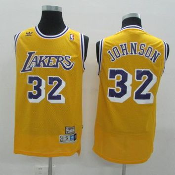 LA Lakers #32 Magic Earvin Johnson Retro Swingman Jersey