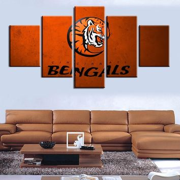 Wall Art Printed Sports Painting Room Decoration Poster Picture Canvas Unframed Modern letter cincinnati bengals tiger