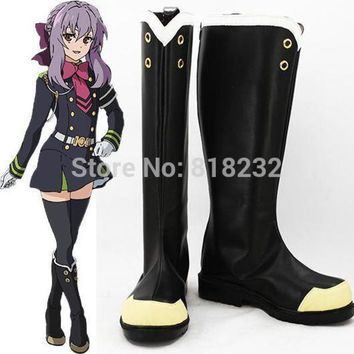 ONETOW Seraph of the end Hiiragi Shinoa Unisex Anime Cosplay Costumes Shoes Boots Customize