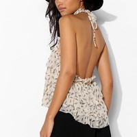 Pins And Needles Ruffle Tier Halter Cami - Urban Outfitters