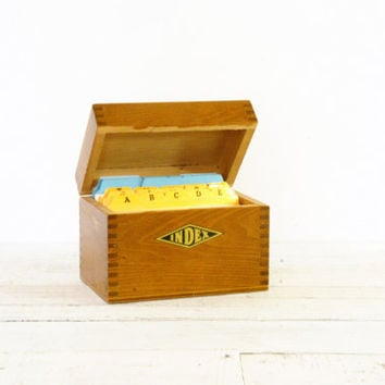 Oak Index Card Box // Recipe
