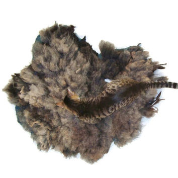 Felted Wool Pet Bed - Navajo Churro/Suffolk Cross - Humane Sheep Fleece Rug - Ready to Ship - Supporting US Small Farms