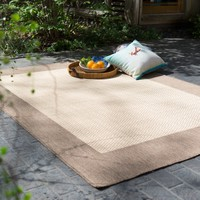 Couristan Recife Checkered Field Indoor/Outdoor Area Rug - Black/Cocoa | www.hayneedle.com