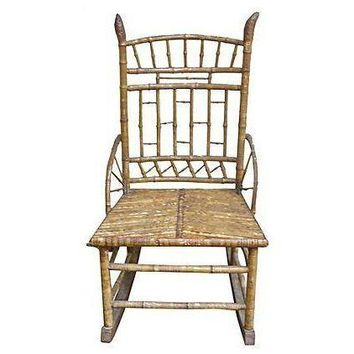 Pre-owned Antique Bamboo Rocking Chair