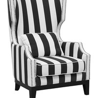 Black & White Stripe Sandy Club Chair