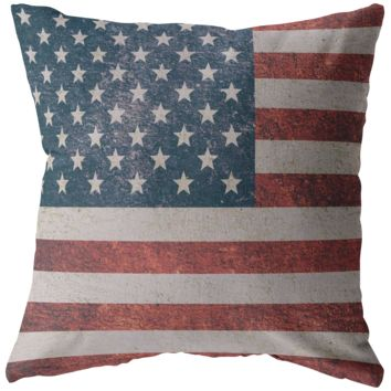 US Flag Square Pillow w/Insert