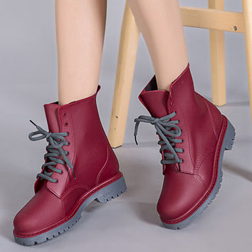 2016 martin shoes rain boots bota feminina waterproof boots woman chaussure femme botas mujer shoes woman plus size women shoes