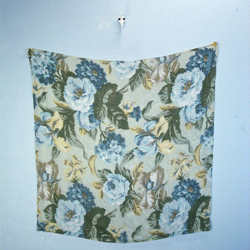 80s Ann Taylor SILK Floral Watercolor Scarf