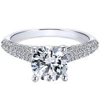 "Ben Garelick Royal Celebrations ""Kylie"" Pave Diamond Engagement Ring"