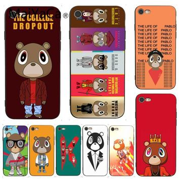 MaiYaCa For iphone 7 6 X Case Kanye West Graduation Bear Painted Smart Phone Case  for iPhone X 6 7 6s 7plus 8 8Plus XS XR 5C SE