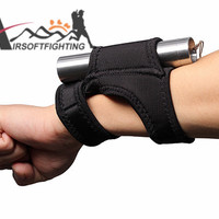Hands-Free Arm Flashlight Holster Arm Pouch Outdoor Sports Tactical Hunting LED Torch Holder Bracket Accessory BK