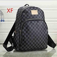 Louis Vuitton LV Women Leather Fashion Backpack Daypack Bookbag