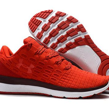 HCXX B219 Under Armour Slingflex Threadborne Flyknit Causal Breathable Running Shoes Red