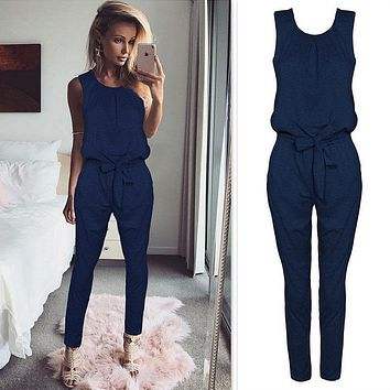 Cross-border Jumpsuit Pants Bodysuit Women  Rompers Body Catsuit