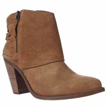 Jessica Simpson Cerrina Western Ankle Booties, Honey Brown, 9.5 US / 39.5 EU