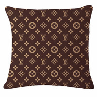 Louis Vuitton Logo Throw Pillow Cover