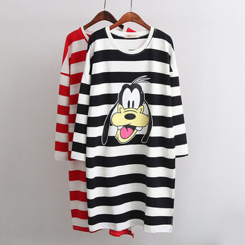 Stripes Cartoons Dogs T-shirts [6048829825]