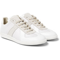 Maison Margiela - Replica Leather, Suede and Mesh Sneakers