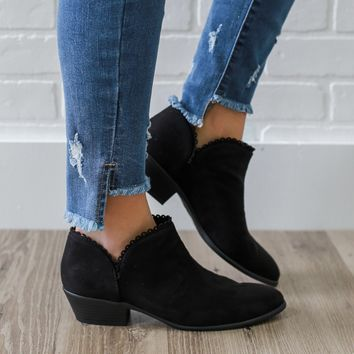 Sweet As Can Be Booties - Black