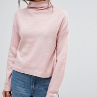 New Look Stand Neck Crop Sweater at asos.com