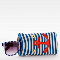 ANCHOR AND STARS SUNGLASSES CASE