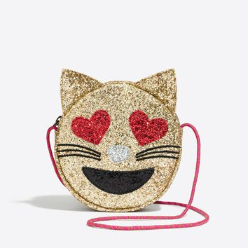 Girls' cat emoji bag