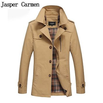Trench Coat 2017 New Arrival Business & European Style Slim Fit High Quality Wind Coat Autumn Popular Men Trench 73wy