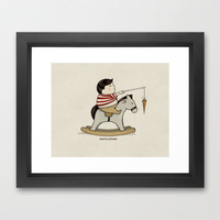 Motivation Framed Art Print by Boots | Society6