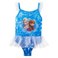 Disney's Frozen Elsa & Anna One-Piece Swimsuit - Toddler
