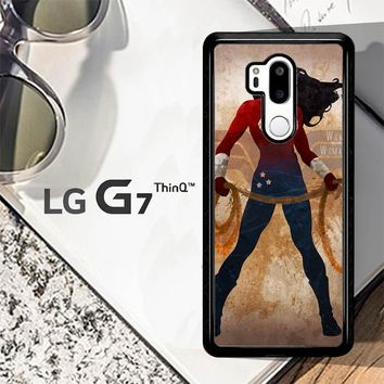Wonder Woman Silhouette Y0546 LG G7 ThinQ Case