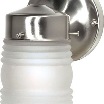 "6"" Porch Light Outdoor Wall Light with Frosted Glass Mason Jar"