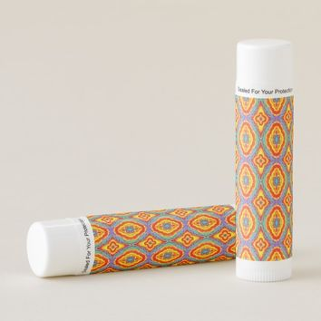 Colorful geometric pattern lip balm