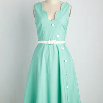 Sprightly Scallops Dress | Mod Retro Vintage Dresses | ModCloth.com