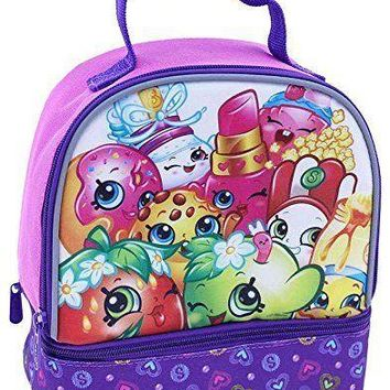 Moose Shopkins Purple Girls Canvas Insulated Lunch Bag/Box
