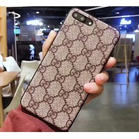 GUCCI men and women models tide brand luxury iphone7plus mobile phone case F-OF-SJK #2