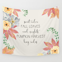 Fall Wall Tapestry by sylviacookphotography