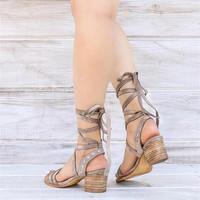 Acacia Suede Lace Up Sandals