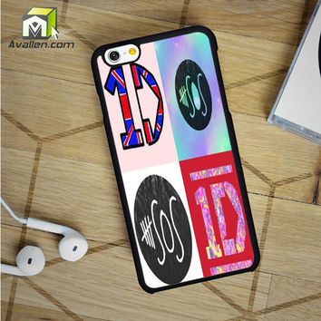 1D And 5 Sos Logo iPhone 6 Case by Avallen