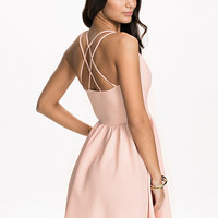 Cross Back Plain Dress, NLY One
