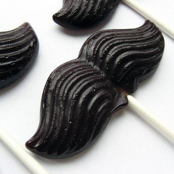 Mustache on a stick hard candy lollipops 6 by VintageConfections