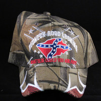 REBEL FLAG Redneck Good Looking What Else Could You Ask For (Camo) Hat/Cap