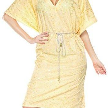 Rayon Embroidery Lounge Caftan SundressLounge Swim Cover up Poncho Gift Women