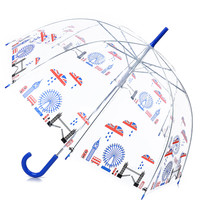 Clear London Union Jack Cityscape Umbrella - Unique Vintage - Prom dresses, retro dresses, retro swimsuits.
