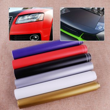 CITALL 150cmx30cm Car Auto Waterproof Matte Flat Color Vinyl Film Wrap Roll Sheets Sticker Decal Protector