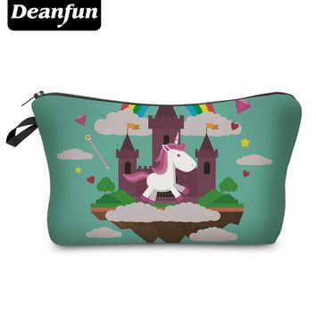Deanfun Cosmetic Bags 3D Printed Unicorn Necessaries for Storage Makeup Organizer for Travelling Polyester 50901