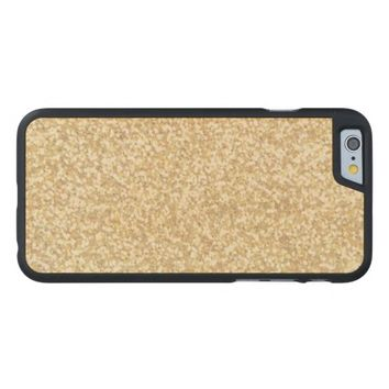 Cool Light Gold Glitter Carved® Maple iPhone 6 Slim Case