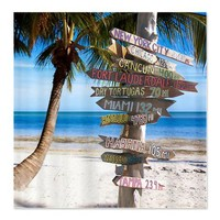 Key West Sign Shower Curtain on CafePress.com