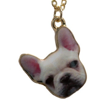 Frenchie Necklace In Pink