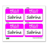 Sabrina Hello My Name Is - Sheet of 4 Stickers