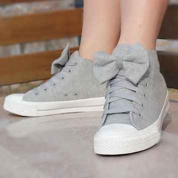 00-Bow Canvas Shoes-66